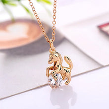 Load image into Gallery viewer, Gold Plated Pendant With Crystal