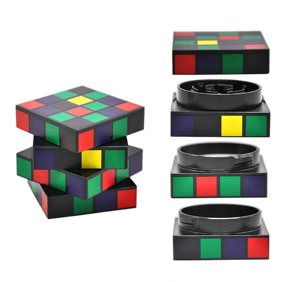Rubik's Cube 50 mm 4 Layers Dry Herb Grinder