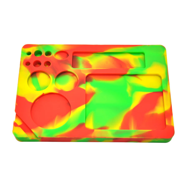 23X16 Cm Camo All in One Non-Stick Silicone Cigarette Weed Stash Rolling Tray