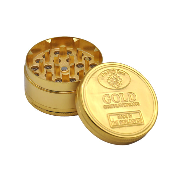 Gold Grinder 4 Pieces Weed Coffee Spice Tobacco Grinder Crusher
