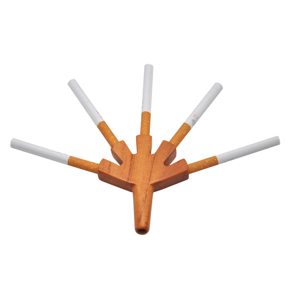5 Level Cone Holder Wood Level Five Cigarette Holder