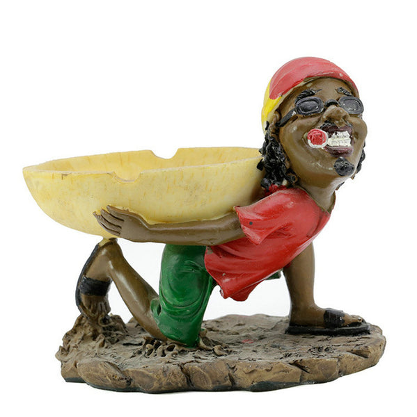 03 Rasta Bob Marley Resin Ashtray Smoke Ragga Jamaica Ashtray