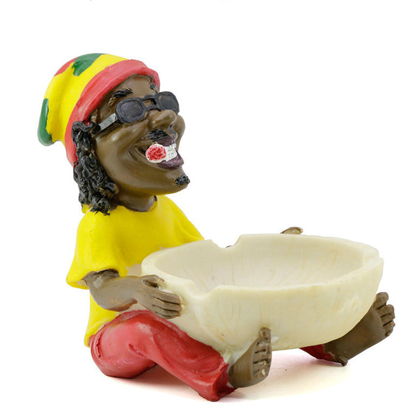 11 Rasta Bob Marley Resin Ashtray Smoke Ragga Jamaica Ashtray