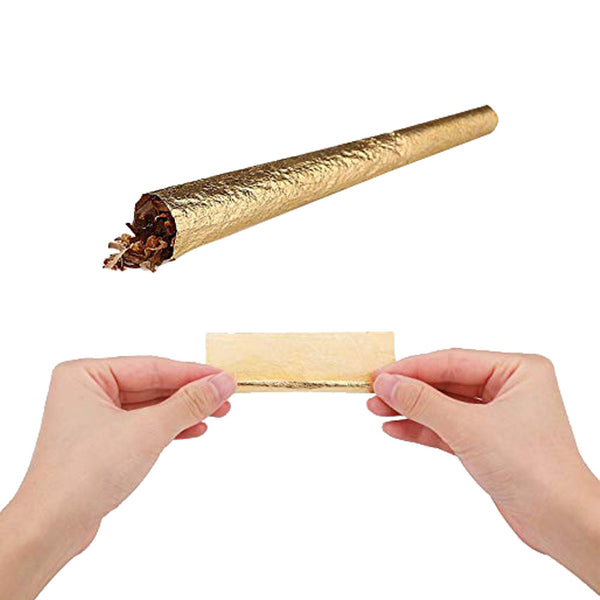 1 1/4 24K Gold Cigarette Rolling Papers