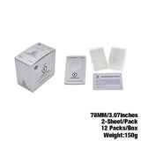 1 1/4 78 mm Silver Cigarette Rolling Papers