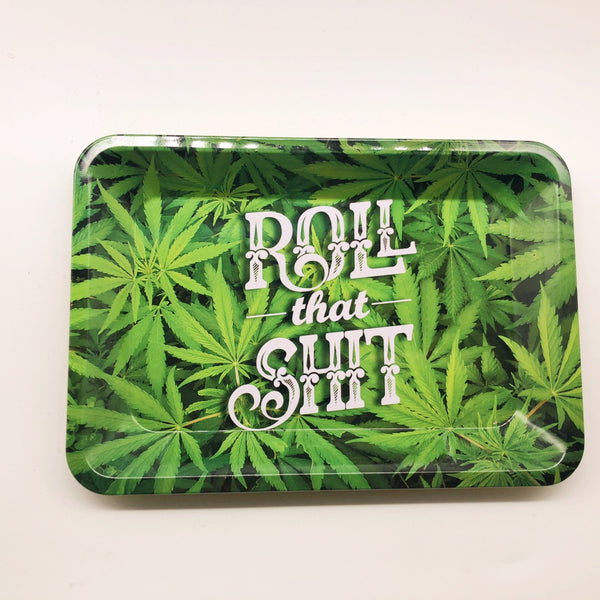 18X14 cm Tinplate Cigarette Weed Stash Rolling Tray