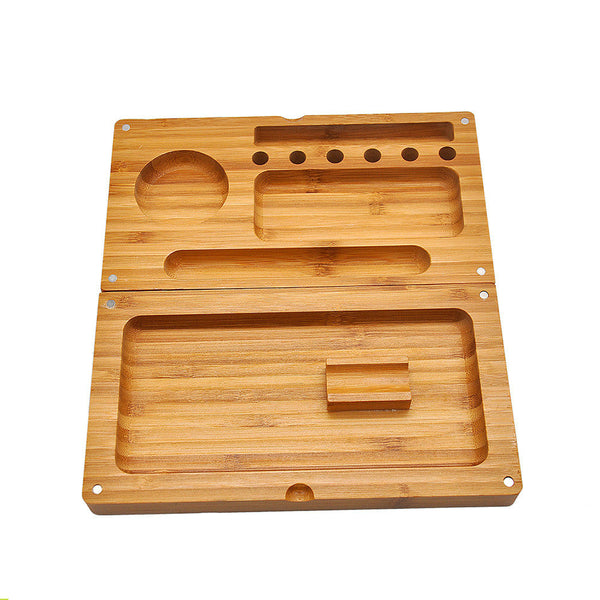 Back Flip Bamboo Rolling Tray