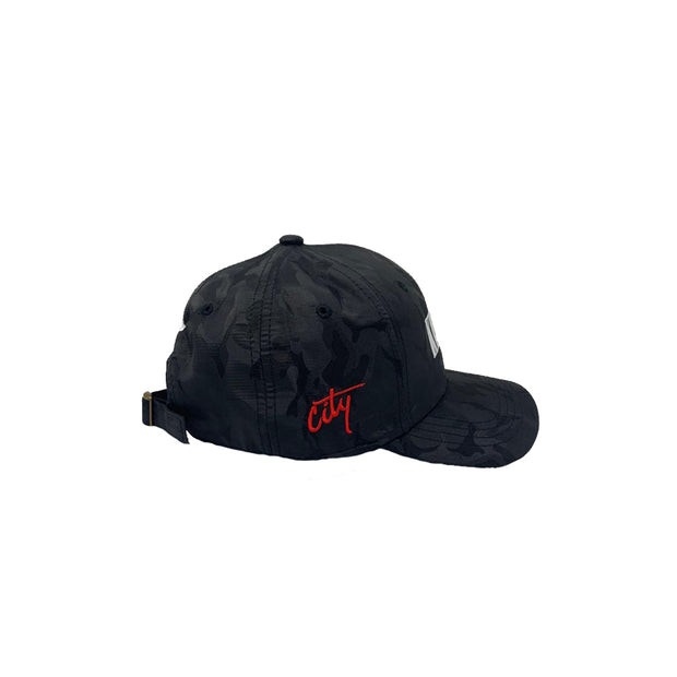 Kingston City (Black Satin Camo Cap)