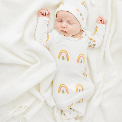 Rainbow Baby Gift Set- Gown and Hat