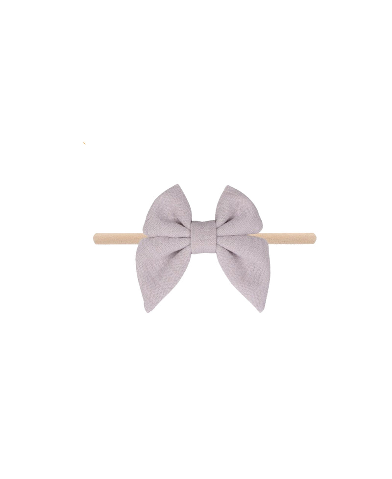 Grey Nylon Baby Bow