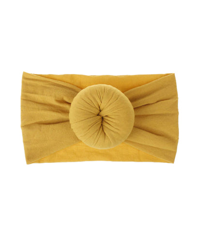 Mustard Yellow Bun Headband