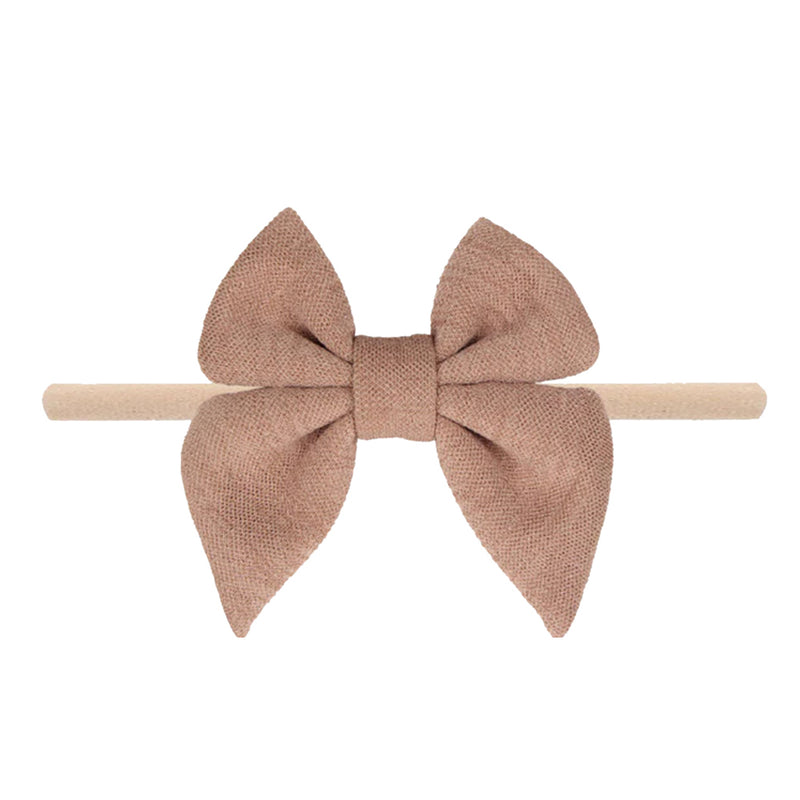 Champagne Nylon Baby Bow