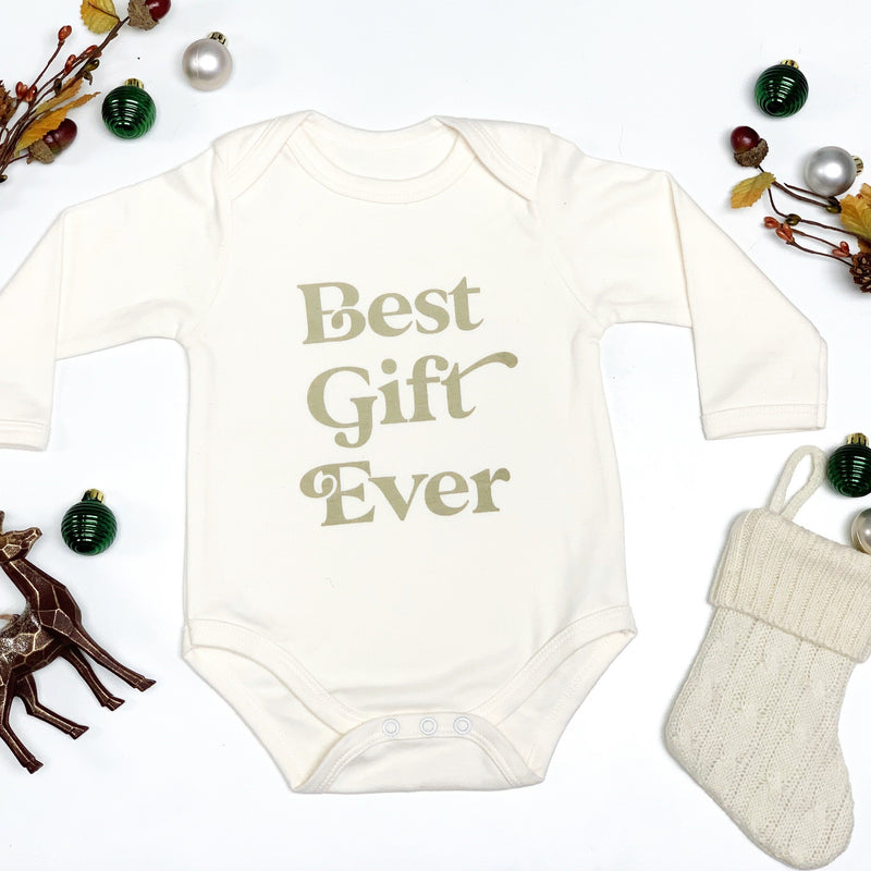 Best Gift Ever- Holiday Baby Onesie