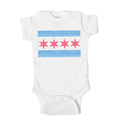Chicago Flag Baby Onesie + Toddler Tee