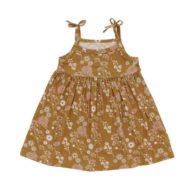 PREORDER Bamboo Sundress Mustard in Baby and Toddler Sizes