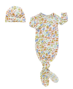 Floral Gown and Hat Baby Gift Set
