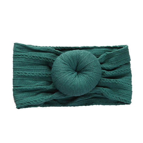 Emerald Cable Knit Bun Headband