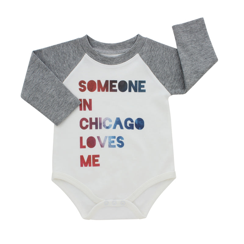 Chicago Onesie-Someone In Chicago Loves Me Long Sleeve