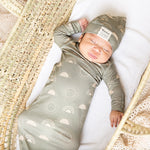 Celestial Sun Bamboo Gown and Hat Newborn Baby Gift Set
