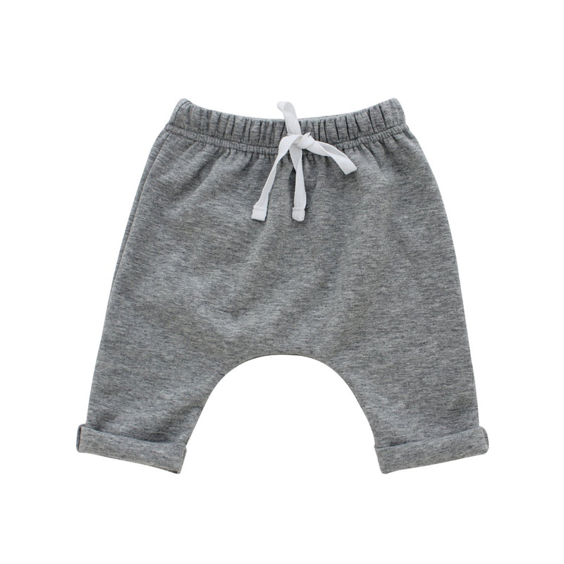 Cotton Baby Joggers-Heather Grey