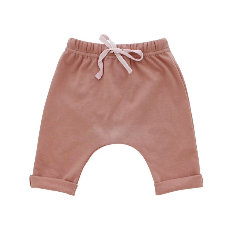 Cotton Baby Joggers-Dusty Rose
