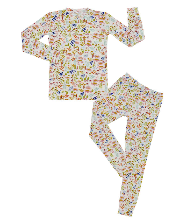 Wildflower Bamboo Toddler Pajama Set