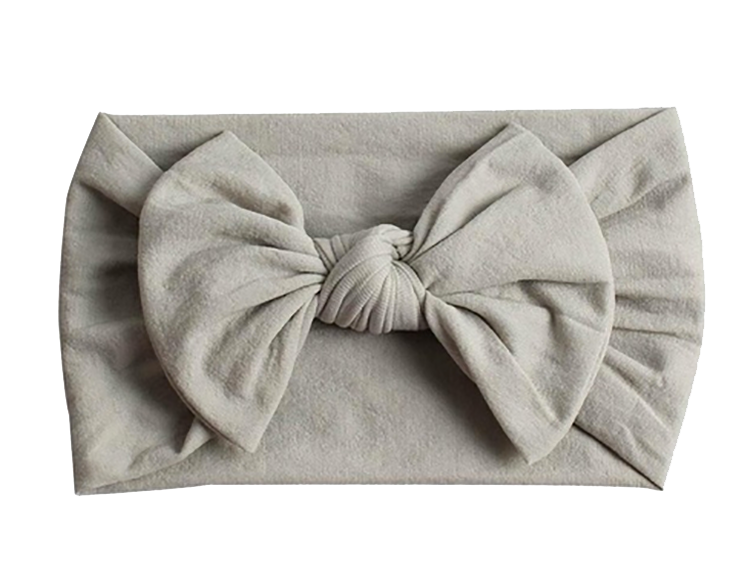 Grey Wide Nylon Baby Headbands