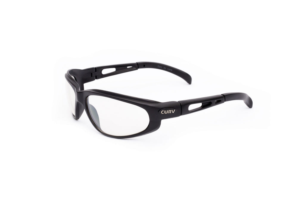 01-02 Clear Lens Black Matte Frame – Motorcycle Sunglasses