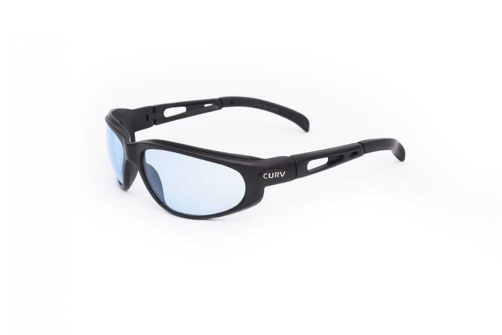 01-03 Blue Lens Black Matte Frame – Motorcycle Sunglasses