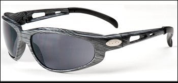 01-48 – Black/Silver Frame w/ Silver Mirror Lens – Motorcycle Sunglasses