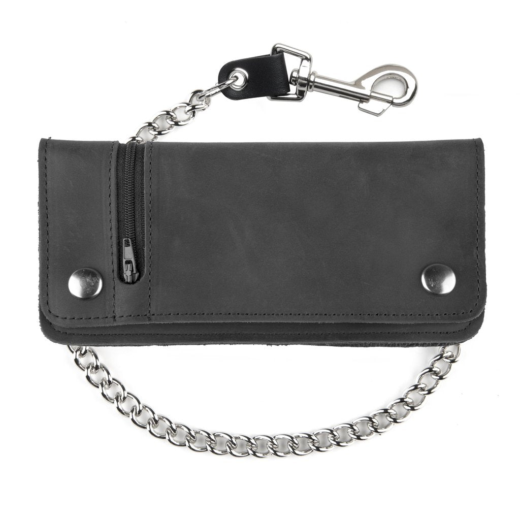 Large Zippered Biker Wallet - 7""