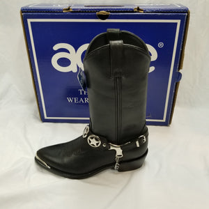 ACME Black Texas Star Boots Slight Damage AC531