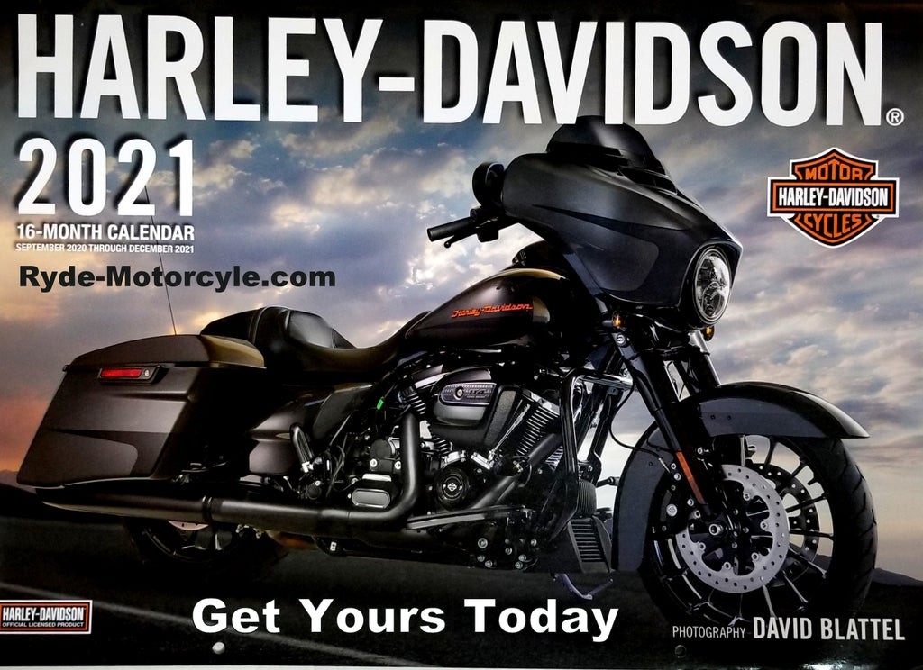 2021 Deluxe Harley Large Wall Calendar 17 x 12