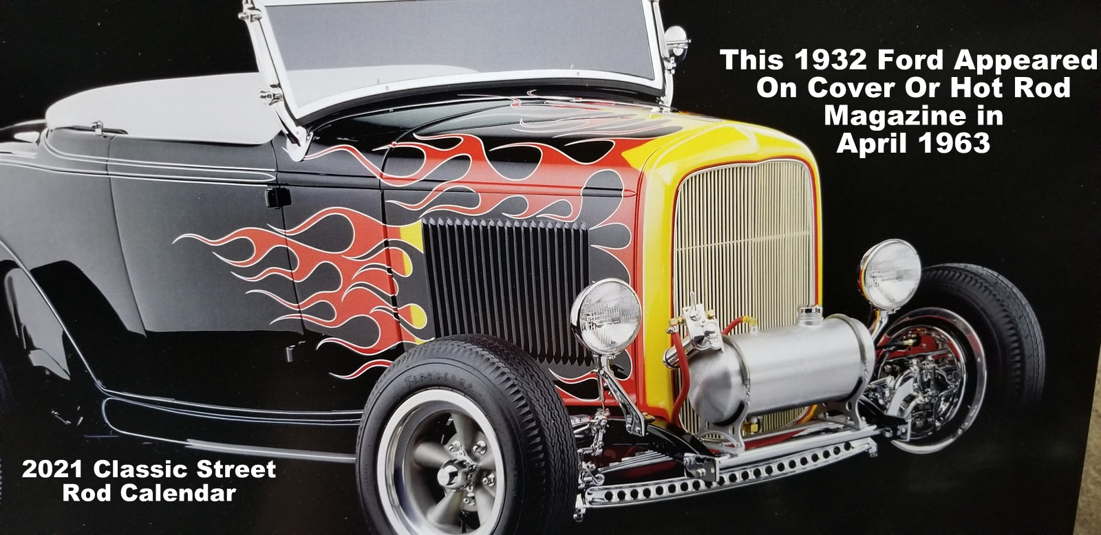 2021 Classic Street Rod Wall Calendar 17'' x 12'' Printed In USA