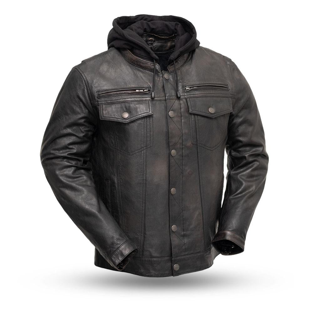Men's FIM276 Vendetta Distressed Black/Brown Jacket