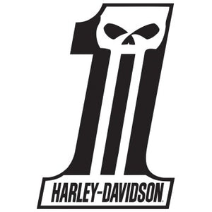 H-D® Dark Custom #1 Die-Cut and Embossed Magnet