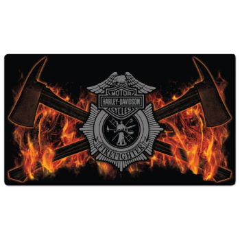 H-D® Fire Axes Tin Wall Sign