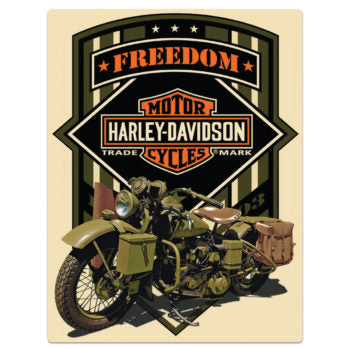 H-D ® Freedom Green Tin Wall Sign