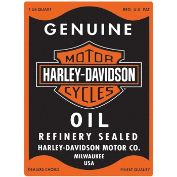 H-D® Oil Can Rectangle Tin Wall Sign