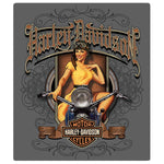 H-D® Old Scroll Babe Embossed Magnet