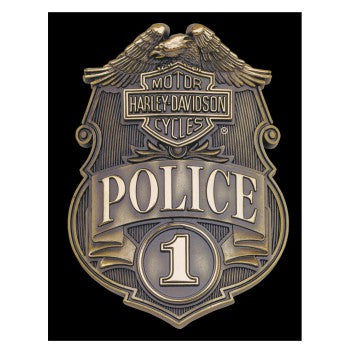 H-D® Police Shield Tin Wall Sign