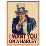 H-D® Uncle Sam Embossed Tin Wall Sign