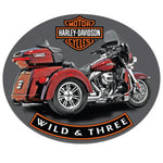 H-D ® Wild & Three Tin Wall Sign