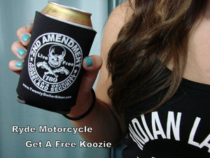 Get a Free 2nd Amendment Koozie at Ryde-Motorcycle