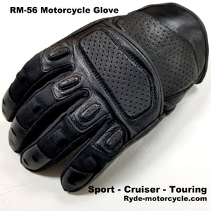 RM-56 Motorcycle Glove Flex Fingers Touch Screen EVA - Sport Cruiser Touring