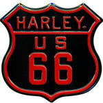 H-D® Route 66 Die-Cut and Embossed Magnet