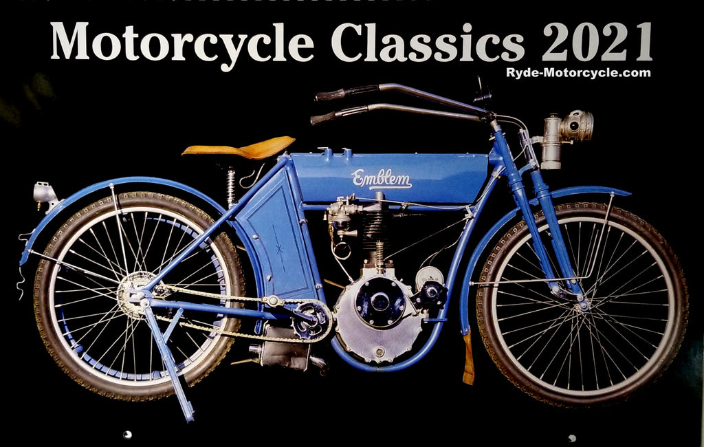 2021 Motorcycle Classics Large Wall Calendar 17 x 12 Printed In USA