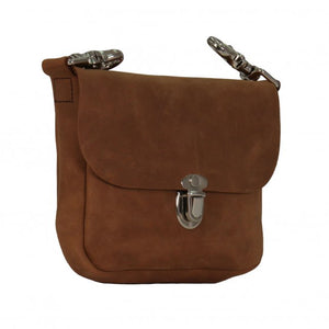 Distressed Brown Leather Ladies Clip Pouch