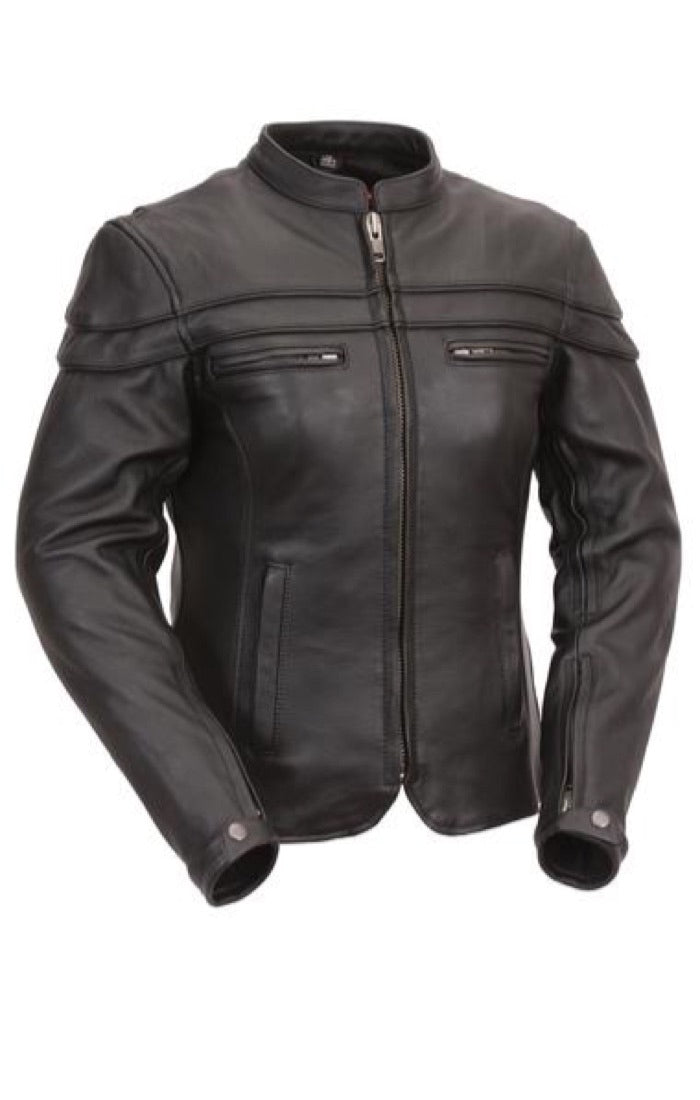 Women's FIL162NTCZ Maiden Classic Scooter Riding Jacket