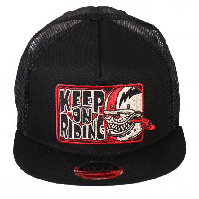 "Bobber Monster ""Keep On Riding"" Snap Back Hat"